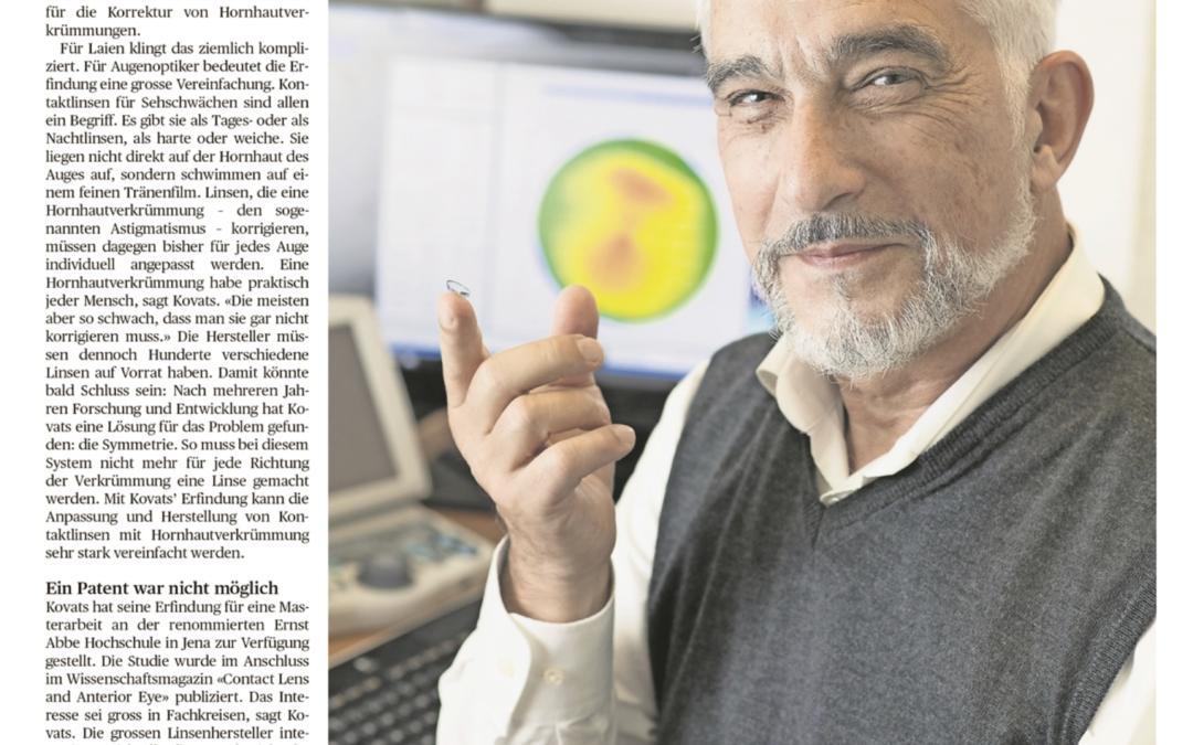 Die Aargauer Zeitung berichtet über Imre Kovats